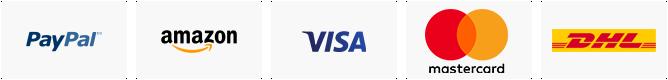Sicheres einkaufen durch verschlüsselte Zahlungsabwicklung und versicherter Versand mit DHL