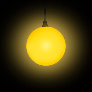 STARBALL COLOR mit Kabel beleuchtet in gelb