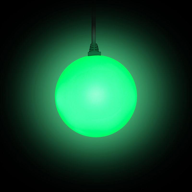 STARBALL COLOR mit Kabel beleuchtet in grün