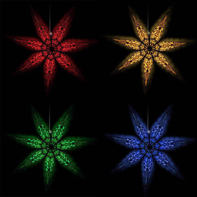 Weihnachtsstern Beleuchtung in Ihrer Wunschfarbe mit Fernbedienung