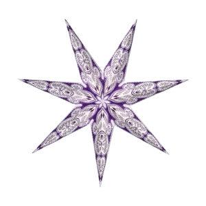 Weihnachtsstern Menora violett (60cm)