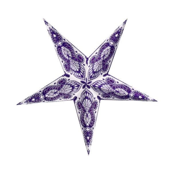 Weihnachtsstern Menora violett (45cm)