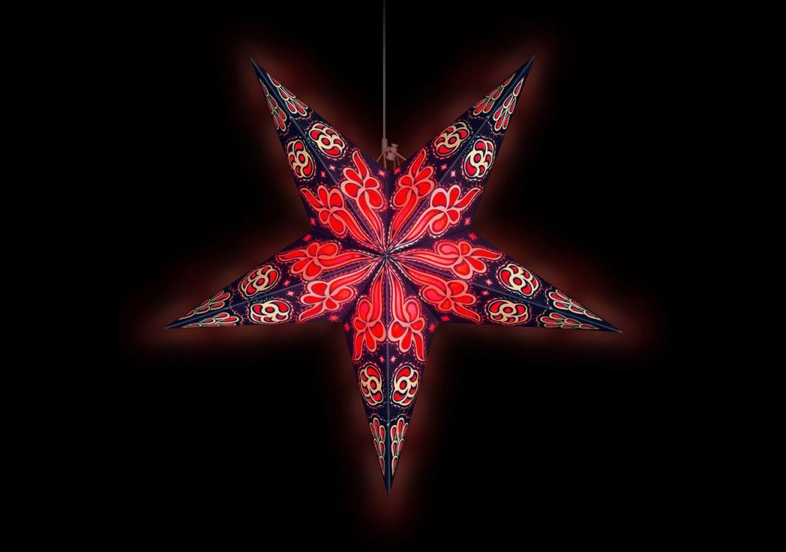 Weihnachtsstern Beleuchtung Baldur in rot
