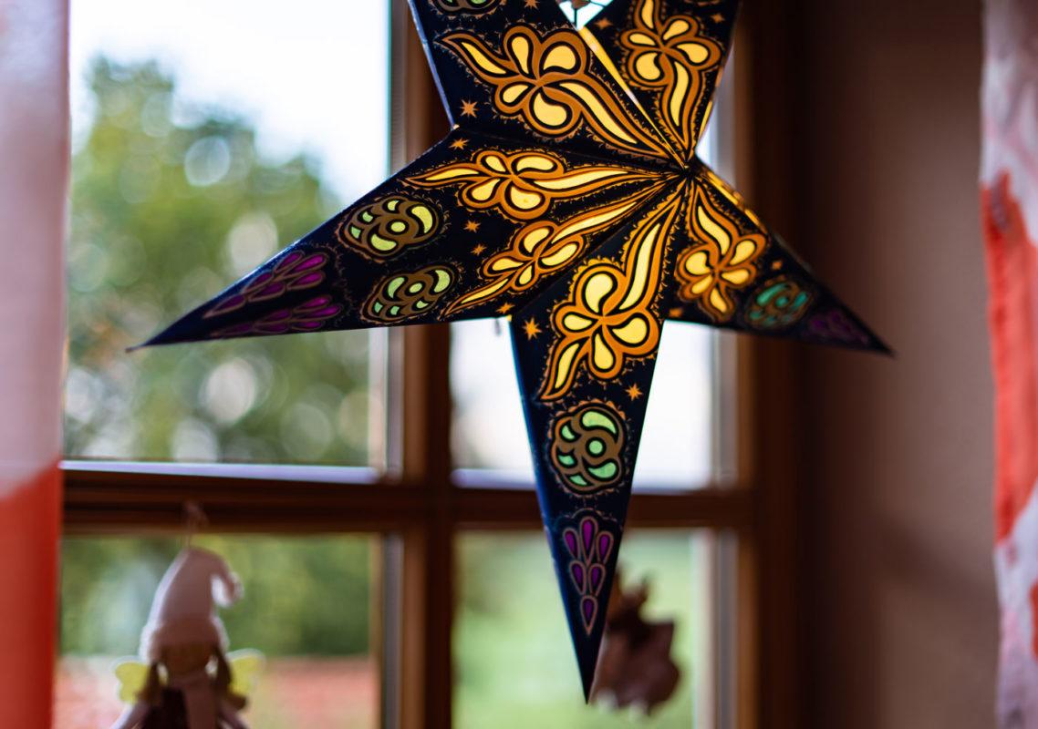 Weihnachtsstern Baldur (60cm) beleuchtet in weiss