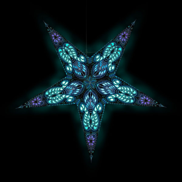 Weihnachtsstern Ganesha blau