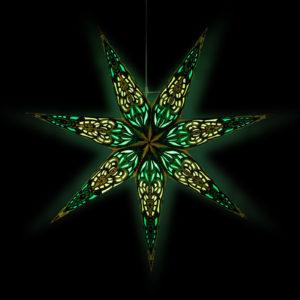 Weihnachtsstern Sumita blau türkis